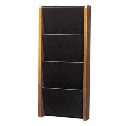 1040-solid-painted-front-pocket-wall-magazine-rack-4-pocket