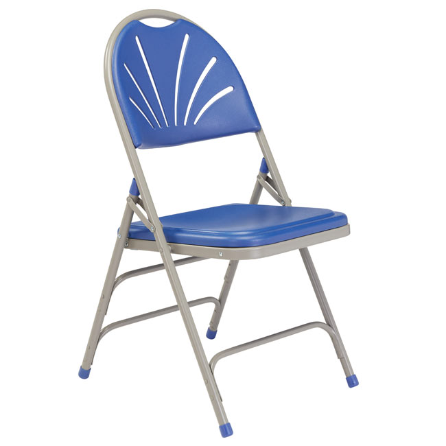 1105-blue-plastic-gray-frame-fan-back-polyfold-folding-chair