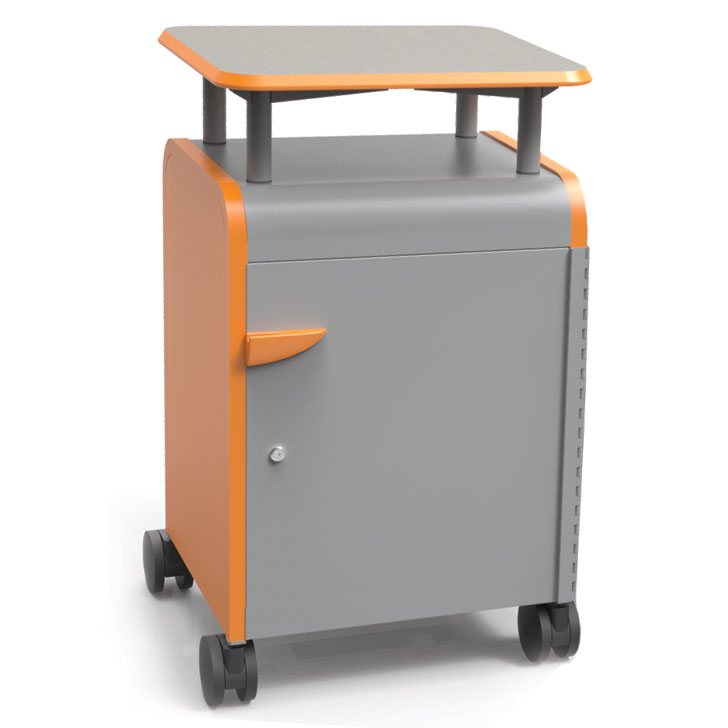 30014-cascade-series-twoshelf-mobile-presentation-cart-w-door-21-w-x-19-d