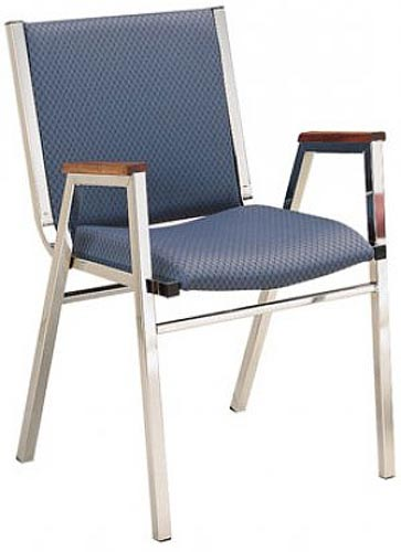 1431-stack-chair-3-seat-designer-fabric-with-arms