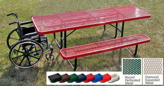 158hp8-wheel-chair-accessible-8-rectangular-perforated-metal-outdoor-picnic-table