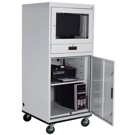 16cc303064 Mobile Computer Security Cabinet Extra Heavy Duty
