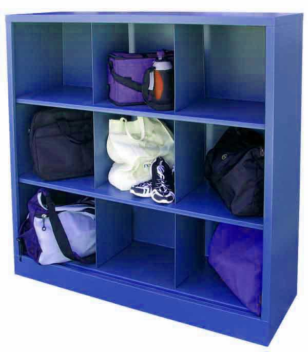 Ic00461852 Metal Cubby Shelf With 9 Storage Cubes