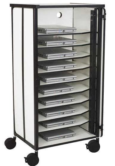 27540-10-laptop-storage-cart-4-casters
