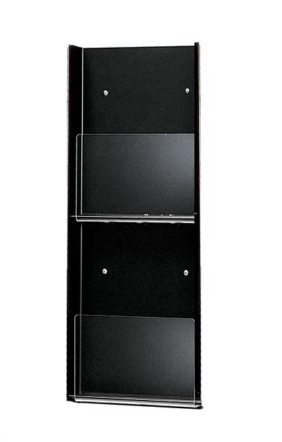 2020-acrylic-front-metal-wall-magazine-rack-2-pocket