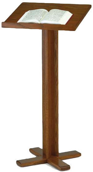 trinity oak cross base wooden lectern t 35 pulpit furniture