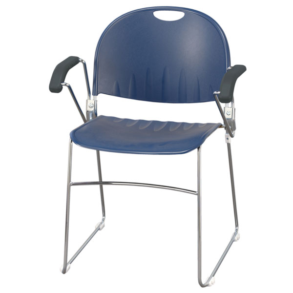 Kfi seating compact stacker chair with arms arm