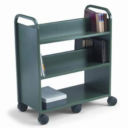 21102-gorilla-booktruck-with-4-sloping-shelves-1-flat-base-shelf