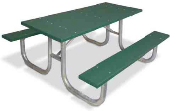 ultraplay extra heavy-duty recycled plastic picnic table (6' l
