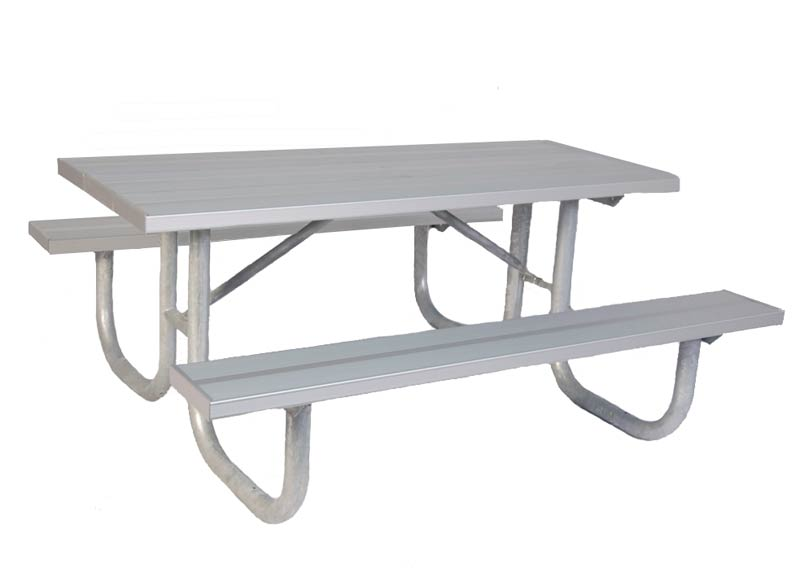 All Aluminum Steel Outdoor Picnic Table By Ultraplay Options - Long picnic table for sale