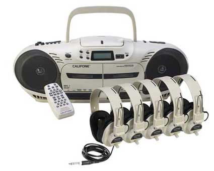 2455plc-10-watt-cddual-cassette-powered-listening-center-w5-headphones-remote-control