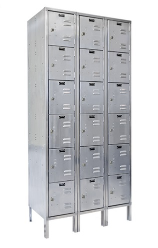 uss3888-6a-stainless-steel-six-tier-3-wide-locker-assembled