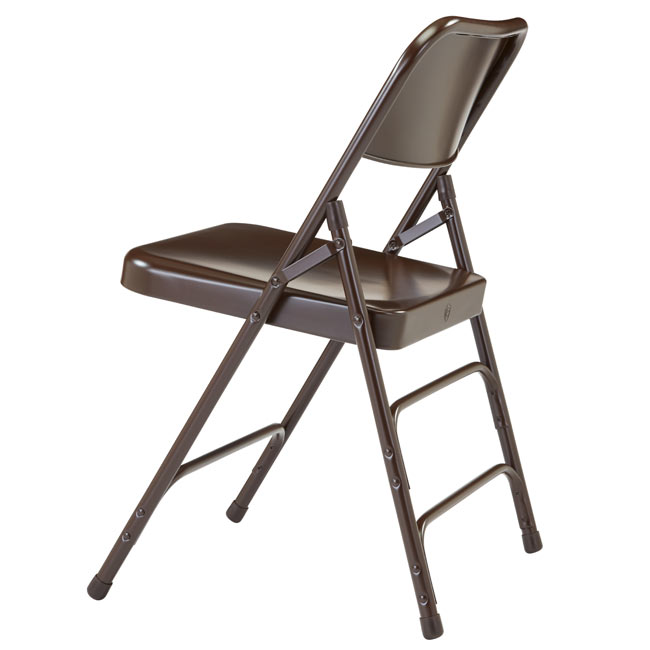 Triple Braced Folding Chair ( Brown ) By National Public Seating, 303    Stock #96076