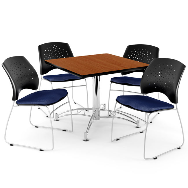ofm breakroom table 36 square or round w four star series rh worthingtondirect com break room table and chair sets uk break room table and chair sets uk