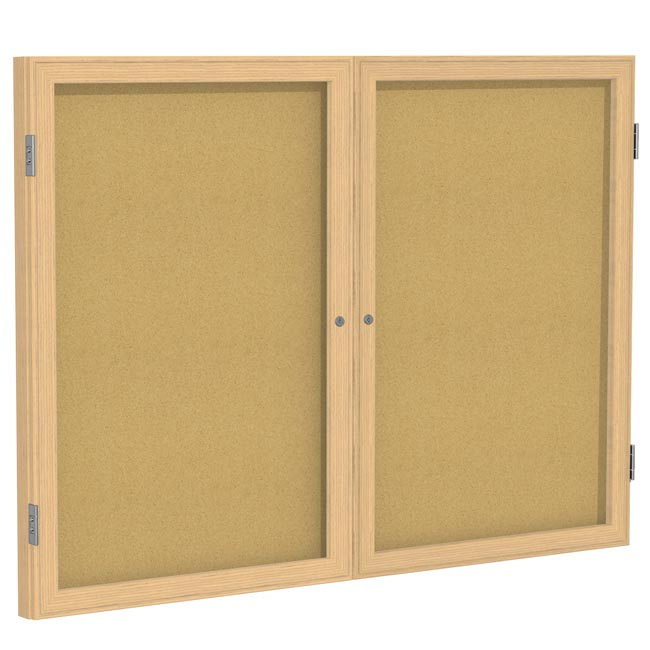 pw23660k-36hx60w-two-door-oak-frame-enclosed-bulletin-board