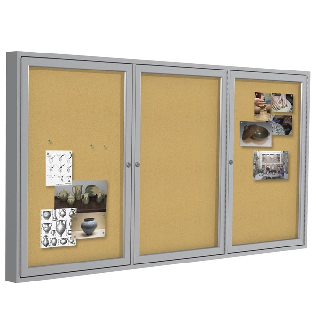 pa33672k-36hx72w-three-door-indoor-aluminum-frame-enclosed-bulletin-board