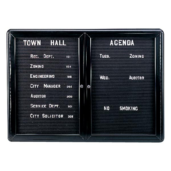 Two Door Ovation Enclosed Letter Board by Ghent