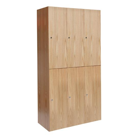 uw32822aw-threewide-doubletier-wood-club-locker-12-w-x-18-d-x-36-h-opening