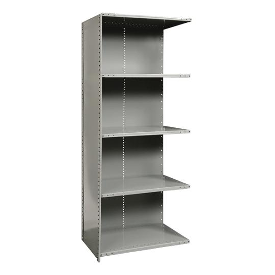 a572012-heavyduty-closed-shelving-adder-unit-w-5-shelves-48-w-x-12-d