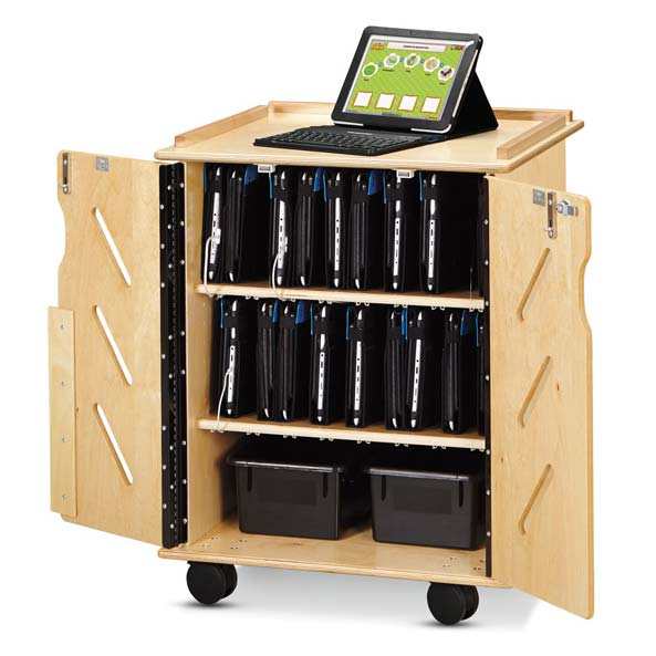 Jonti-Craft Laptop and Tablet Storage Cart