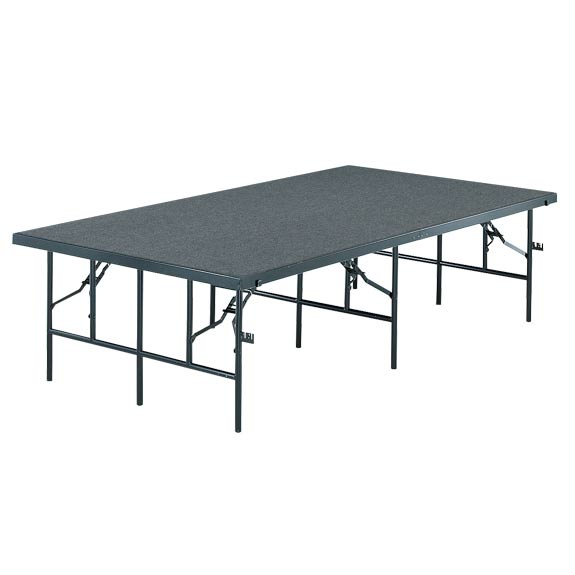 4832c-4x8x32h-stageriser-pewter-gray-carpet-wblack-metal