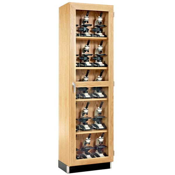 Diversified Woodcrafts 15 Microscope Storage Cabinet With Glass