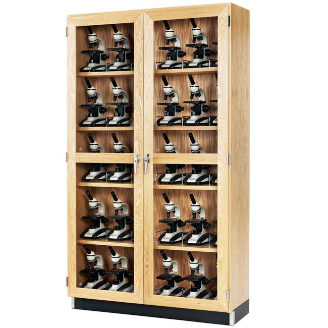 30 Microscope Storage Cabinet With Glass Doors 48 W X 16 D