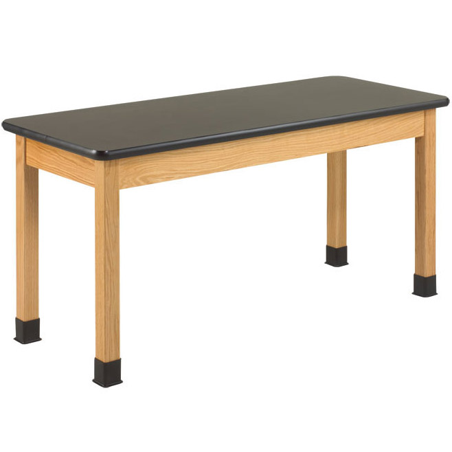 p7121k30n-black-laminate-top-oak-science-table-30-d-x-48-w