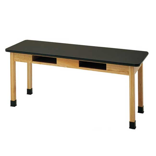 c7302k30n-24d-x-72w-black-chemguard-top-oak-science-table-with-book-compartment