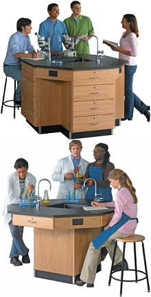 science-lab-octagon-workstation-diversified-woodcrafts