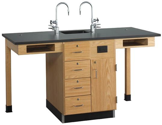 c2516k-diversified-woodcrafts-two-student-service-island-with-drawers-and-cupboard