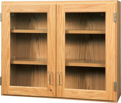 d06-3012-diversified-woodcrafts-oak-door-wall-cabinet-with-glass-doors-30-w