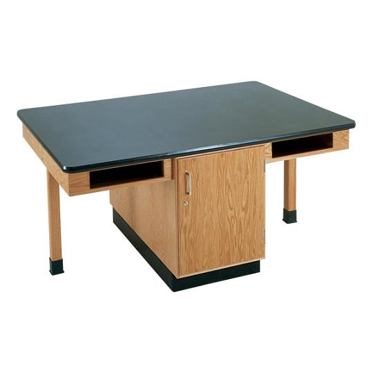 c2302k-fourstudent-science-table-w-4-book-compartments-chemguard-top-doors-only