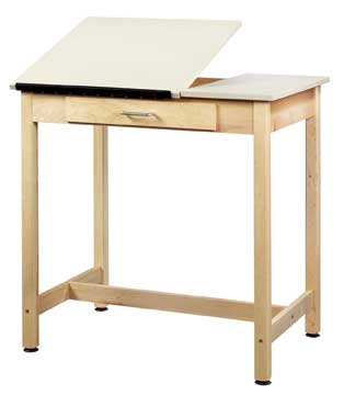 Dt1sa30 Splittop Drafting Table W Large Drawer 30