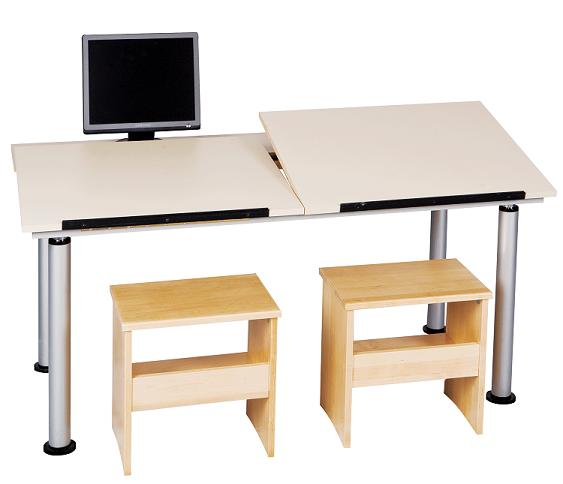 altd36030-adjustableheight-splittop-drafting-table-w-monitor-shelf-2-station