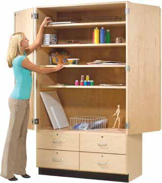Gsc8 Tall Storage Cabinet W Drawers