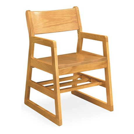 Charmant 41a Calculus Solid Oak Chair W Arms