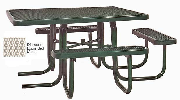 358hv-46-square-ada-compliant-expanded-metal-outdoor-picnic-table