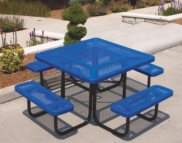 358p-46-square-perforated-metal-outdoor-picnic-table