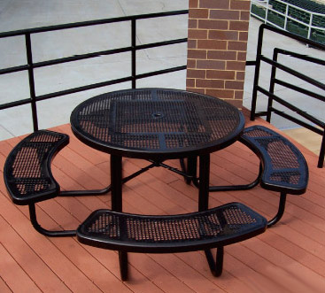 358rdp-46-round-perforated-metal-outdoor-picnic-table