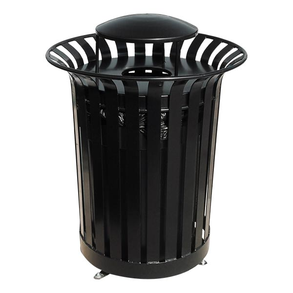 ultraplay rain bonnet top lexington outdoor trash receptacle lx 36rb trash cans recycling