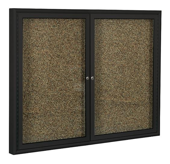 Indoor Enclosed Bulletin Board w/Coffee Frame by Best-Rite