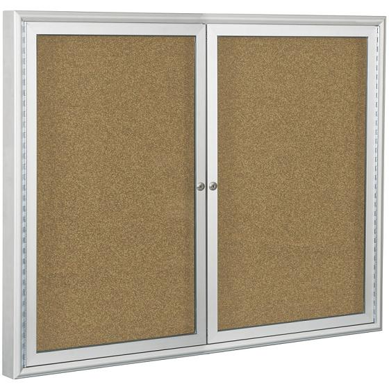 Beau 94pseo Outdoor Enclosed Bulletin Board Cabinet W2 Doors