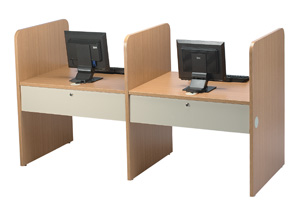 01800-43-12wx30dx42h-single-unit-light-oaksand-computerteaching-carrel