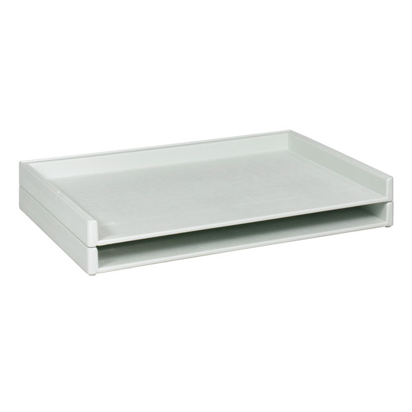 4899-4514wx34dx3h-ctn-of-2-one-pair-white-stacking-trays
