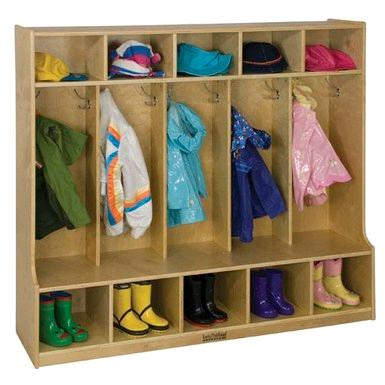 elr-0453-birch-5-section-coat-locker-w-bench