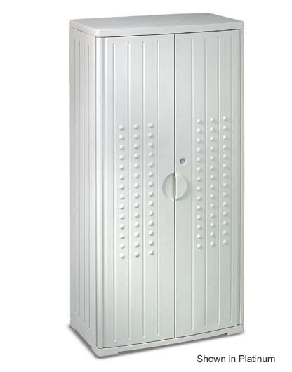 92552-33wx18dx66h-gray-resinite-storage-cabinet-with-locking-doors-1-fixed2-adj-shelves