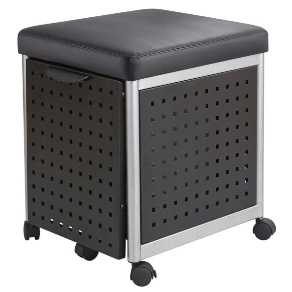 file cabinet seat safco products scoot mobile file cabinet with cushion seat 15349