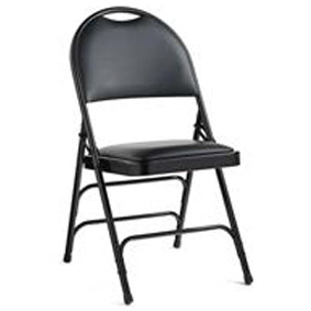 Stock #78071   Samsonite 57314 Comfort Series Steel Folding Chair With Padded  Seat U0026 Back  Vinyl