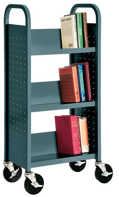 sl33017-book-truck-with-3-slant-shelves-17-w